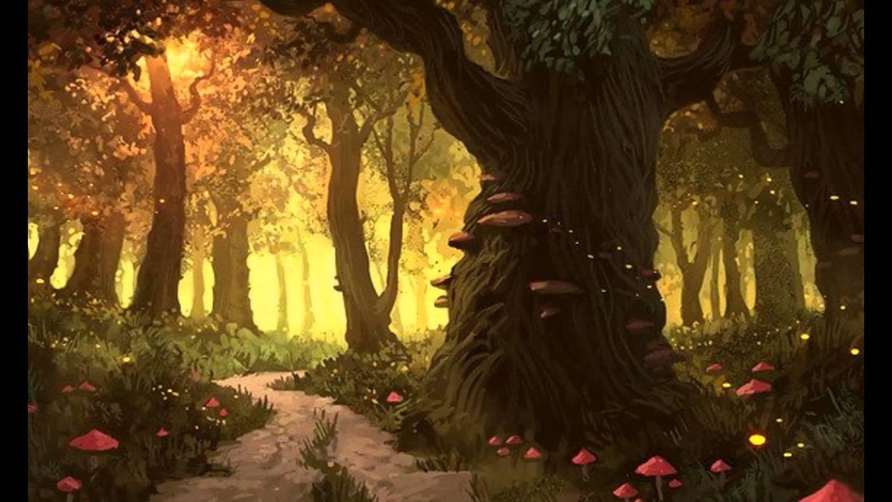 Избушка в лесу картинки