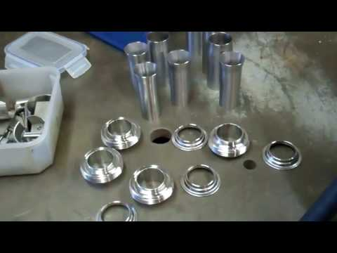 How to tig weld stainless steel hygienic fittings to odd size pipes.