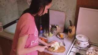 Рецепты. Рецепт запечённых овощей с грибами и сыром под сливочным соусом.