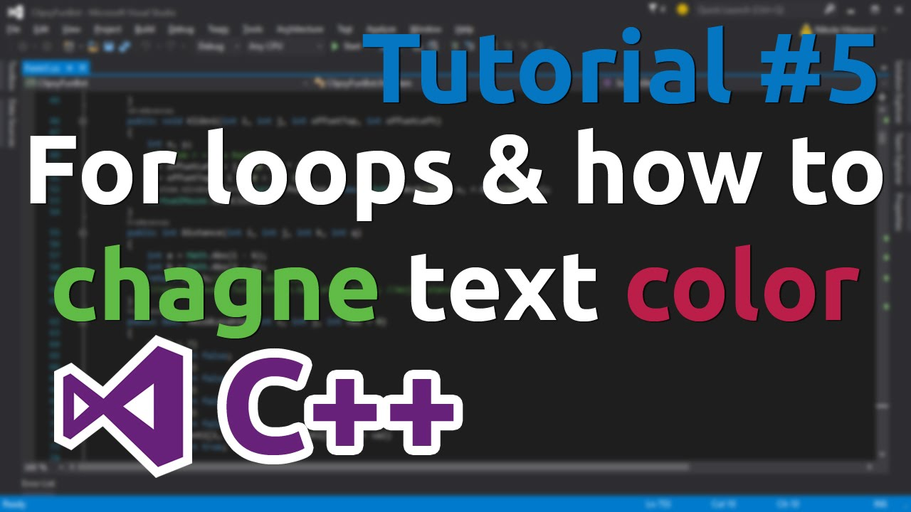 C tutorial 5 for loops and how to change text color youtube nvjuhfo Images