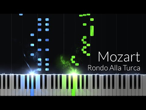 "Alla Turca ""Turkish March"" (Sonata No.11, 3) - Wolfgang Amadeus Mozart [Piano Tutorial] (Synthesia)"