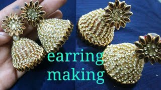 How to make quilling paper earrings#jewellery making#