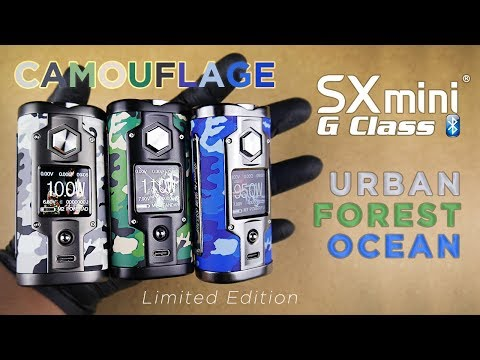 SXmini G Class - Camouflage Limited Edition (URBAN/FOREST/OCEAN) + UPDATE - YiHi - Vaping Unboxed