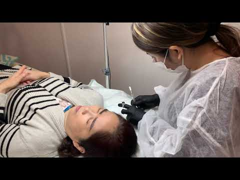Microblading Training Zazen Beauty - Day 3 - Work on Live Model