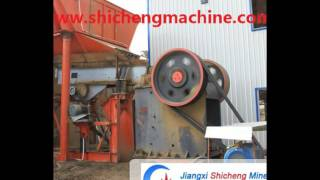 Small Trommel Plant for placer gold mining