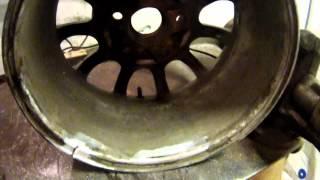АРГОНОВАЯ СВАРКА ЛЕГКО-СПЛАВНОГО ДИСКА ARGON WELDING OF THE EASY AND FLOATABLE DISK(Очередная шабашка! Легко-сплавный диск, аргоном варит мой сын я в подсобниках! Next extra work! A light-alloy wheel, argon my..., 2014-12-12T18:16:17.000Z)
