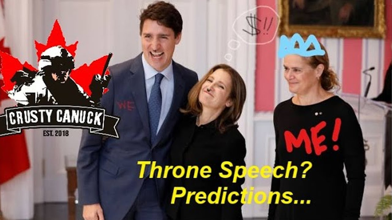 Upcoming Throne Speech and My Predictions...  #YahooNation