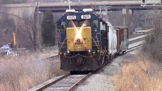 CSX D780 Climbs the Steep Grade and Works Dorsey Industrial
