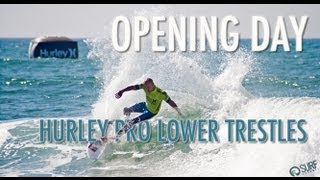Heat Highlights - Mick Fanning, Kelly Slater, Jordy Smith- Hurley Pro 2012 Opening Day