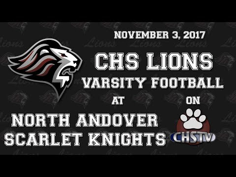 CHS Lions Football at North Andover Nov 3, 2017