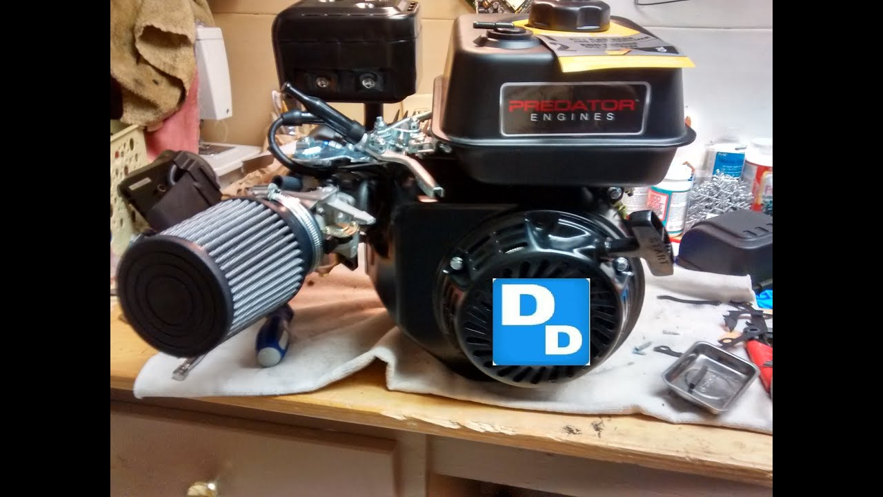 How to install AirFilter adapter kit and main jet, on 212cc Predator