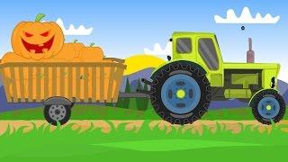 Tractor For Kids | Halloween Pumpkins | Traktor Dla Dzieci - Dynie