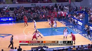 Blackwater Elite vs Meralco Bolts | PBA Commissioner's Cup 2019 Eliminations