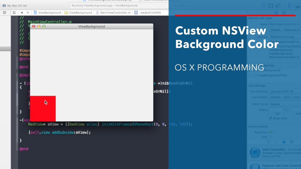 Background image xcode - Cocoa Tutorial Custom Nsview Background Color
