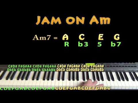 Funk in Am - Am7 - A C E G - M.M.=60 - JAMTRACK - Keyboard Loop