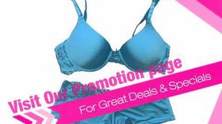 Something Blue Crystal Lace Molded Cup Bra and Hot Short Set - AdvantageBridal.com