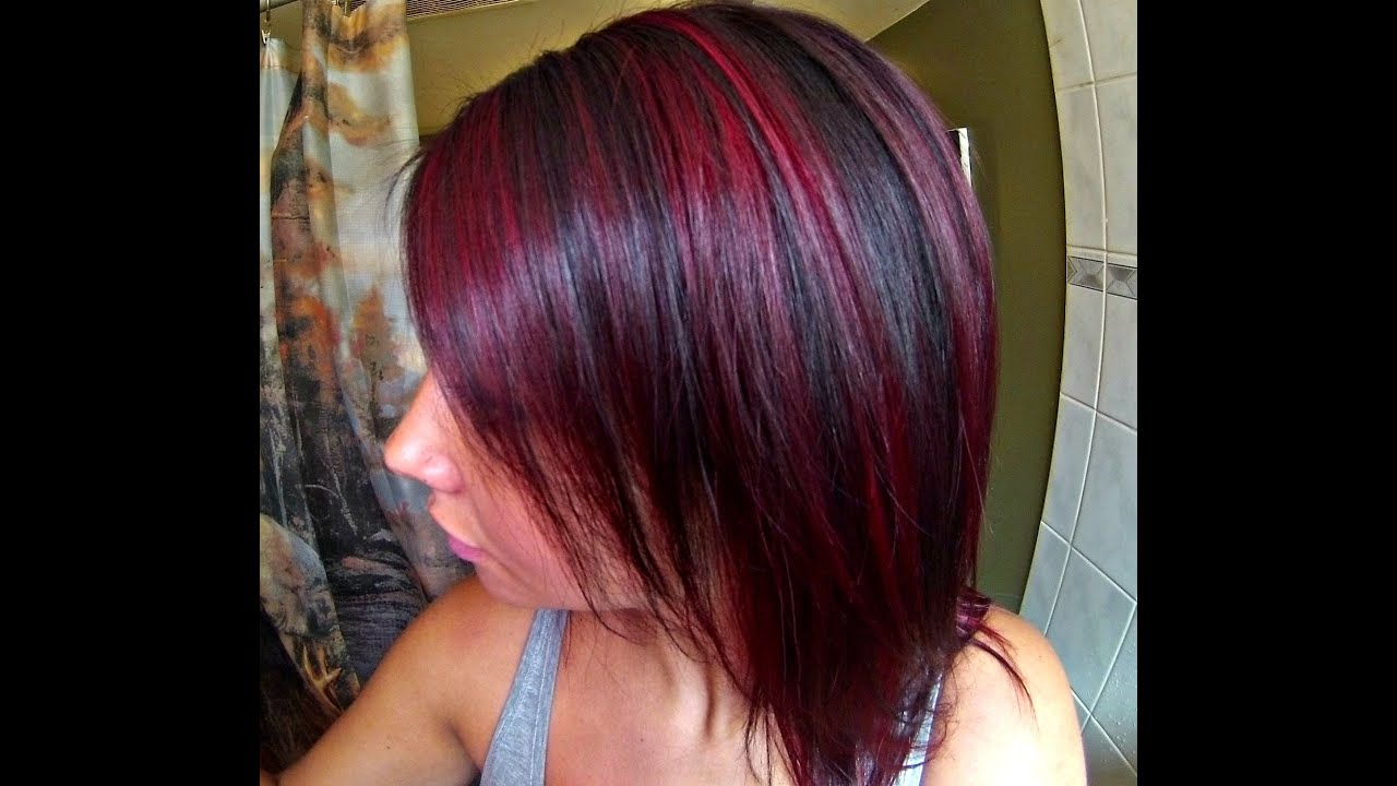 Red Highlights Hair Tutorial Ft Manic Panic Fushia Shock Youtube