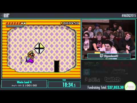 Wario Land 4 by 00greenbean00 in 49:54 - AGDQ2015 - Part 2
