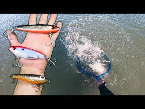 OVER-SIZED Lure Fishing Challenge