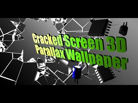 3D Parallax Cracked Screen Live Wallpaper For Android