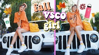 transforming into the ultimate fall VSCO girl!
