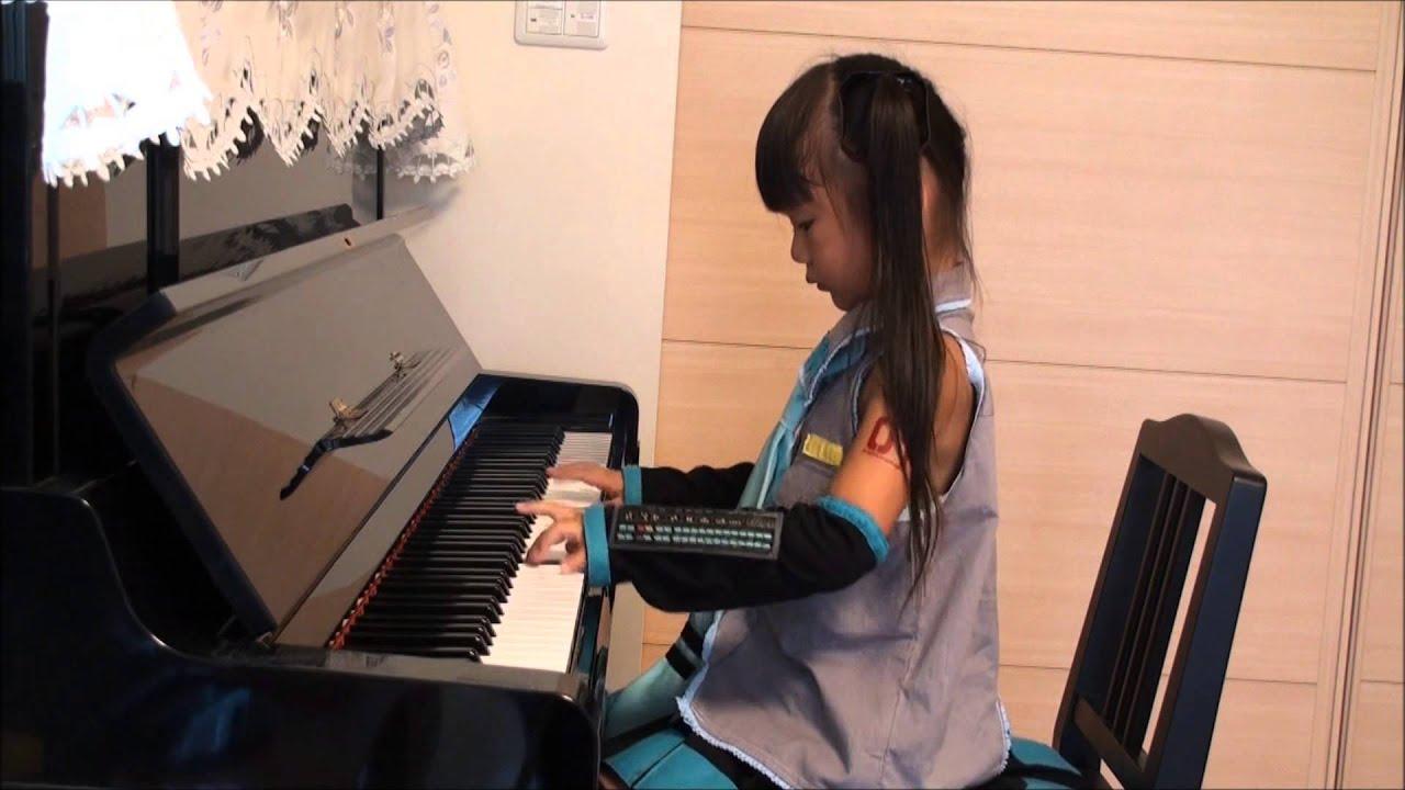 『千本桜』 初音ミク ピアノ ☆小学1年生(6歳) #1