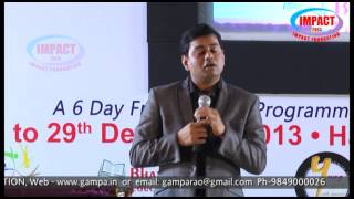How to Get what you want ?  by CA Pavan kumar founder srimedha at IMPACT2013 DEC