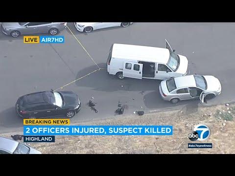 Deputy-shooting suspect killed in gun battle with San Bernardino police   ABC7