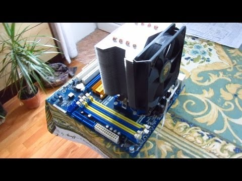 4 Heat Pipe CPU cooler (Installation, Review)