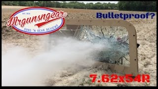 Humvee Bullet Proof Glass vs. 7.62x54R Test (HD)