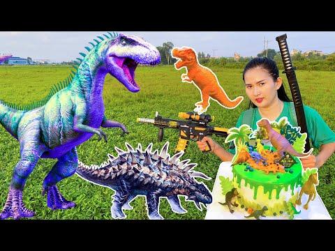gửi hàng đi canada - Changcady đi săn khủng long để về trang trí bánh sinh nhật - Part 86