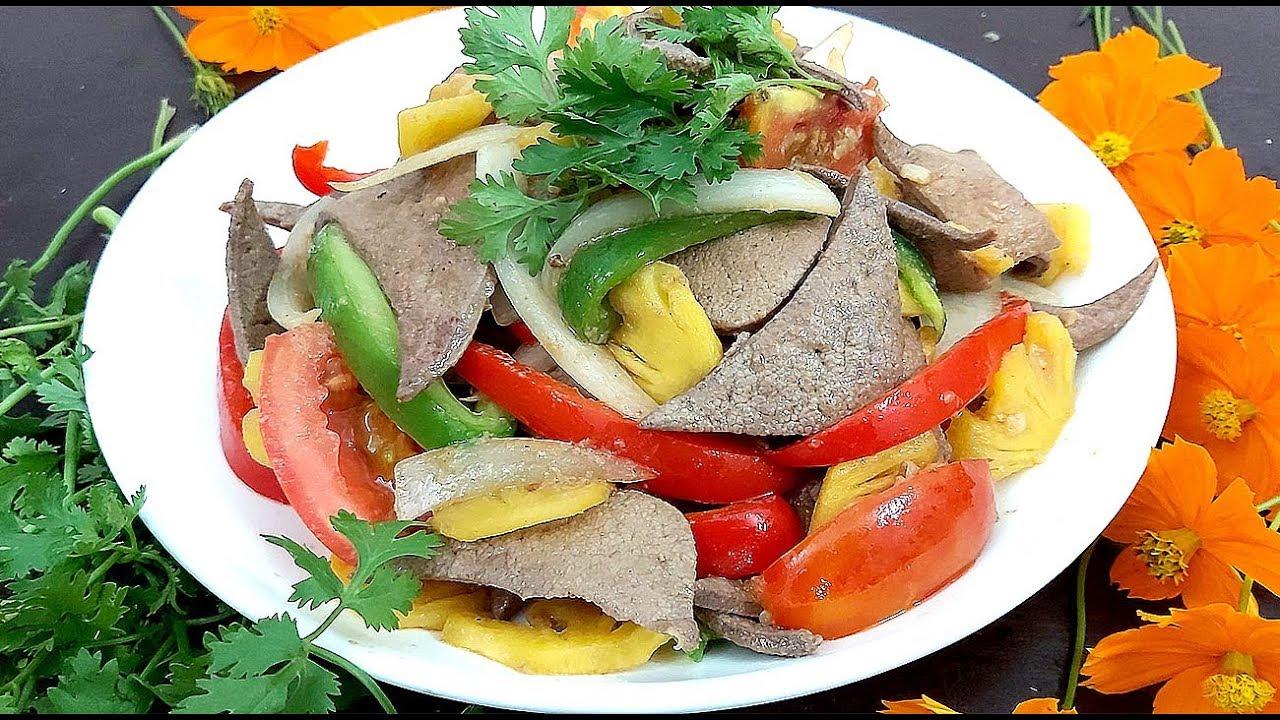 Cách làm sạch, mềm, thơm hơn món Gan Heo xào chua ngọt cực ngon đổi vị bữa cơm của Hồng Thanh Food