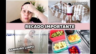 INSTALEI A REDE, LAVEI O BANHEIRO | HIGIENIZEI AS VERDURAS E FRUTAS + RECADO IMPORTANTE