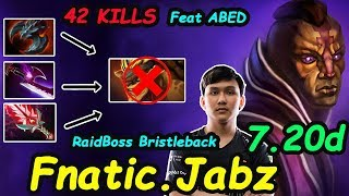 Fnatic.Jabz - [Anti Mage] Party with Abed Destroy Public Raid Boss BristleBack Build | Dota2 7.20d