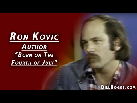 "Ron Kovic Author of ""Born on the Fourth of July"""