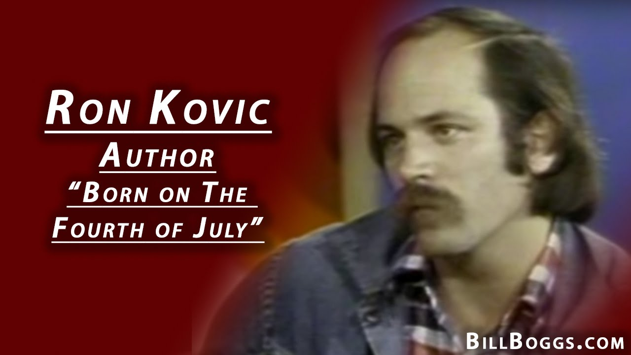 Ron Kovic Author Of Quot Born On The Fourth Of July Quot Youtube