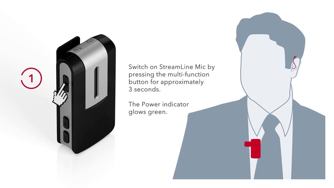 Como parear o Signia StreamLine Mic aos seus aparelhos auditivos
