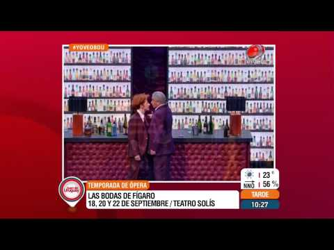 Buen día Uruguay - Temporada de Ópera -  Las Bodas de Fígaro 14 de Setiembre de 2015