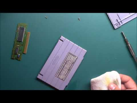 How I Clean a Videogame Cartridge SNES, NES, Genesis, N64 and more