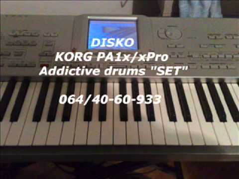 addictive drums set korg pa1x xpro youtube. Black Bedroom Furniture Sets. Home Design Ideas