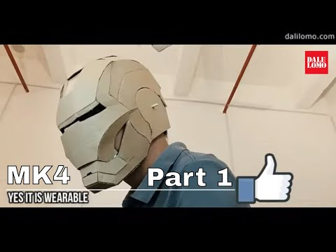 (NEW) DIY Iron Man Mark 4 Part 1 - Helmet Template PDF, Cardboard