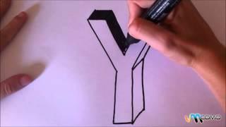 Como desenhar a letra Y em 3D