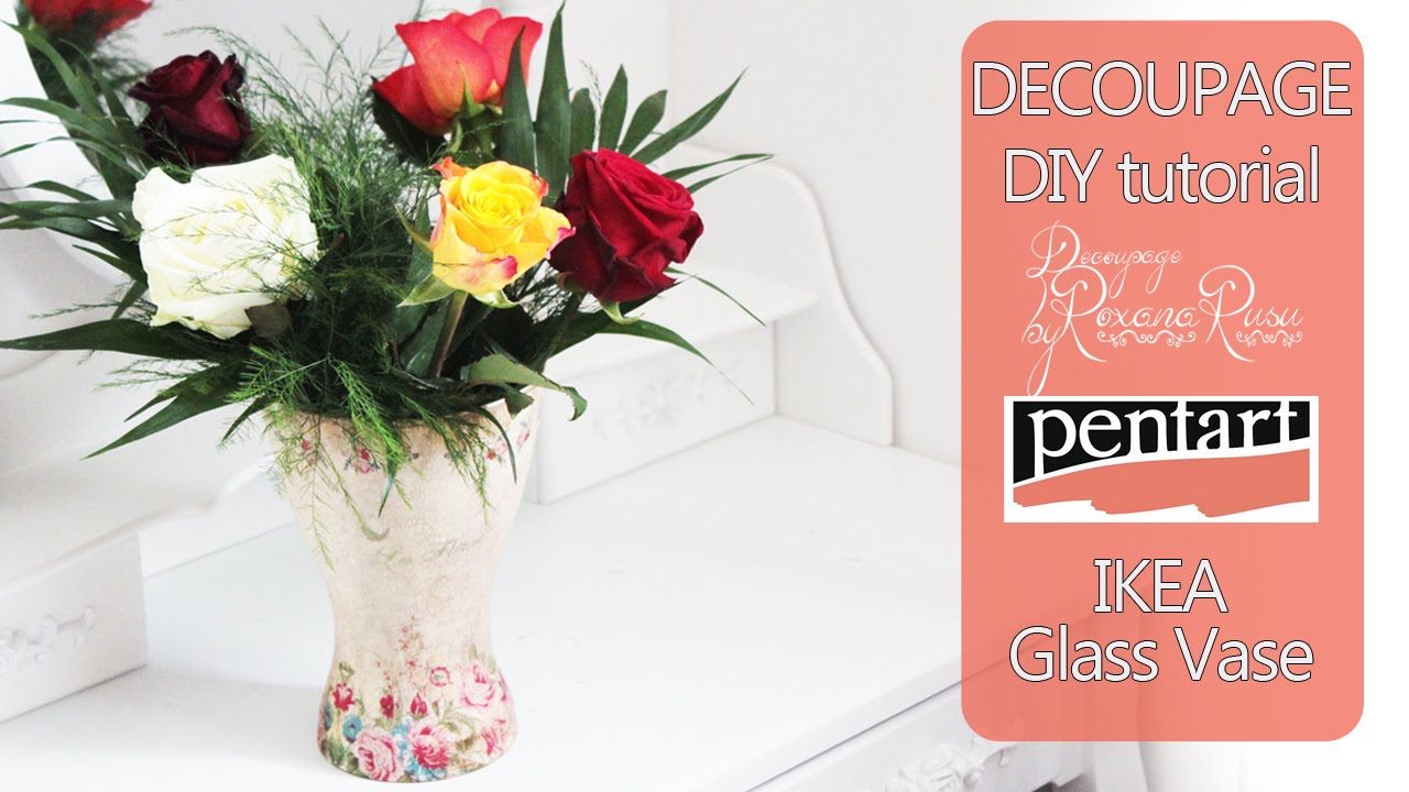 How To Decoupage On Glass Decoupage Tutorial Diy Glass Flower