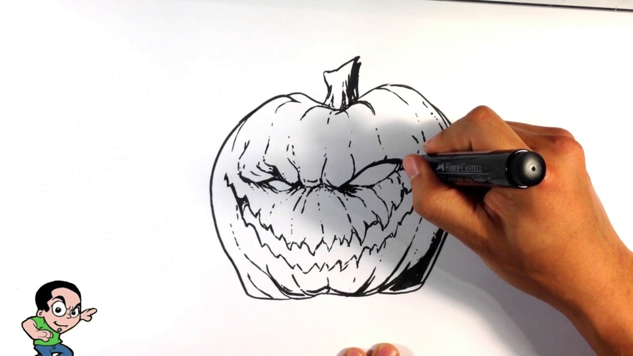 How to Draw a JackOLantern  Easy Drawings  YouTube