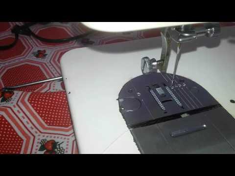 Como regular os dentes da maquina de costura domestica Singer