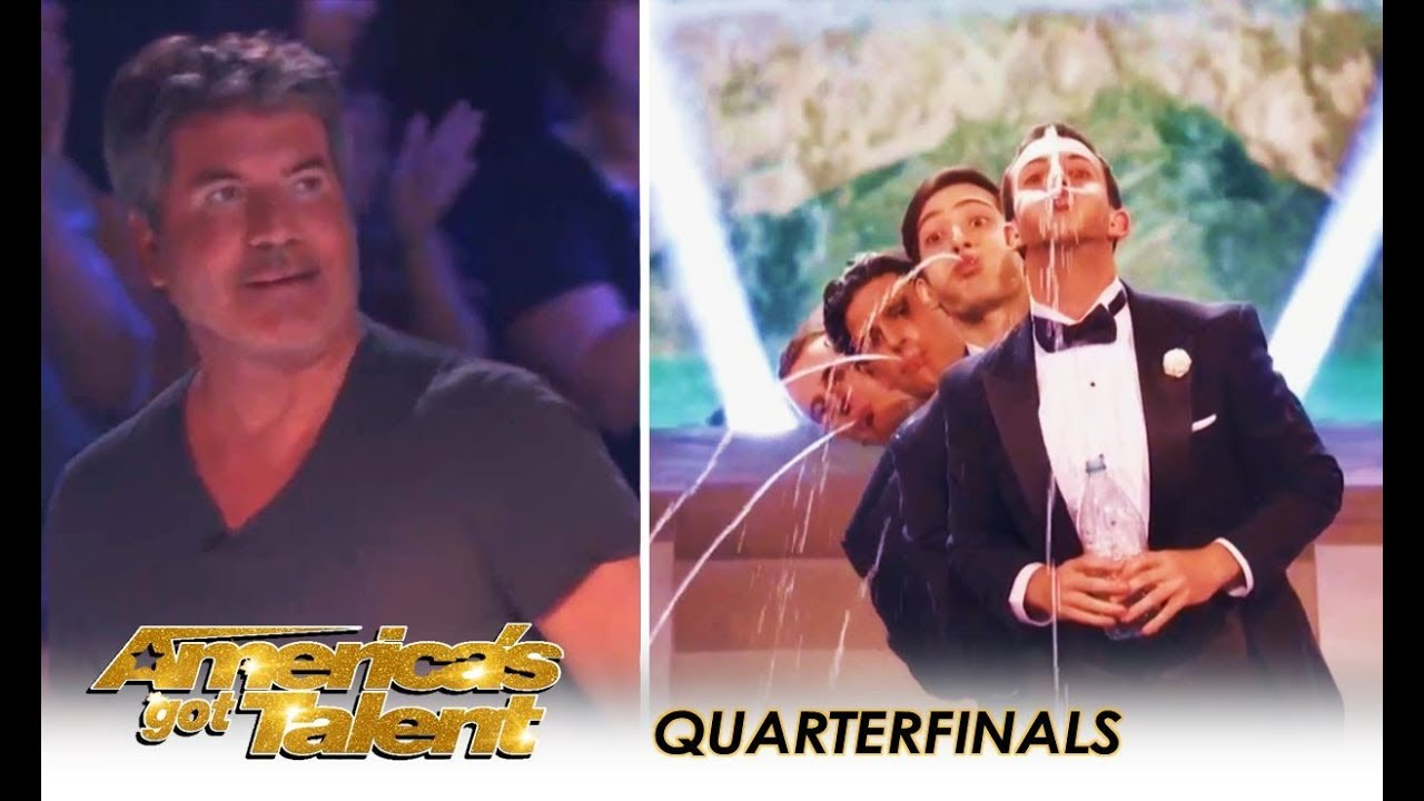 Human Fountains Get DIRTY and Simon Cowell Walks-Off In DISGUST! | America's Got Talent 2018