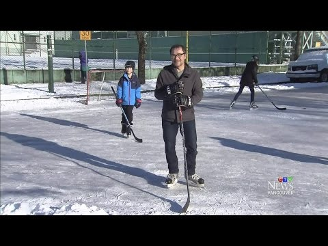 Roads to ice rinks: Chilly temperatures transform Vancouver