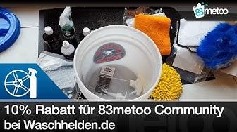 Waschhelden.de 10% Rabatt Gutschein für 83metoo Community - Autopflege Unboxing