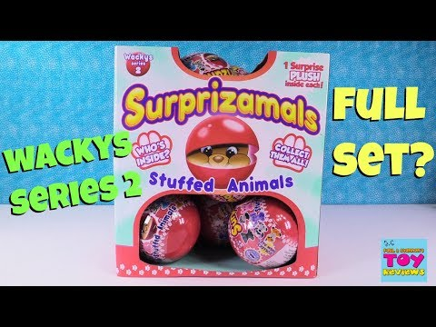 Surprizamals Wackys Series 2 Full Set Box Toy Review Unboxing | PSToyReviews
