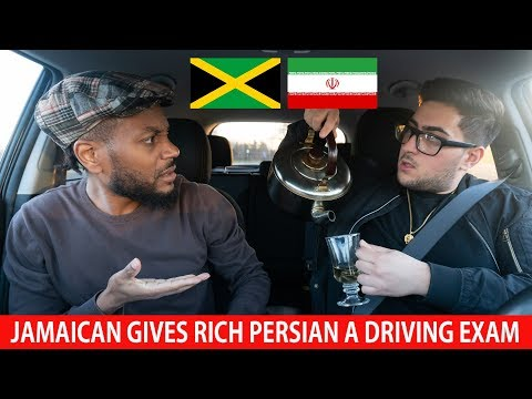 Jamaican Gives Rich Persian A Driving Exam